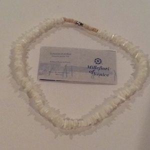 White Glass bead necklace.